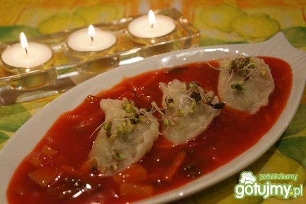 Serowe pierożki z sosem słodko-kwaśnym