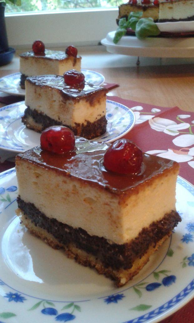 Serowo -  makowe ciasto