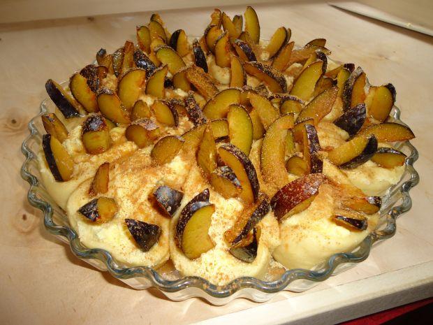 Serowo – śliwkowe ciasto drożdżowe