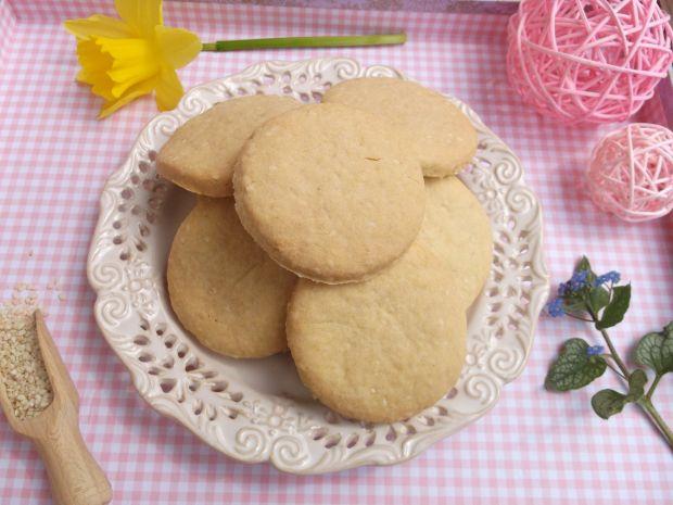 Sezamowe kruche ciasteczka