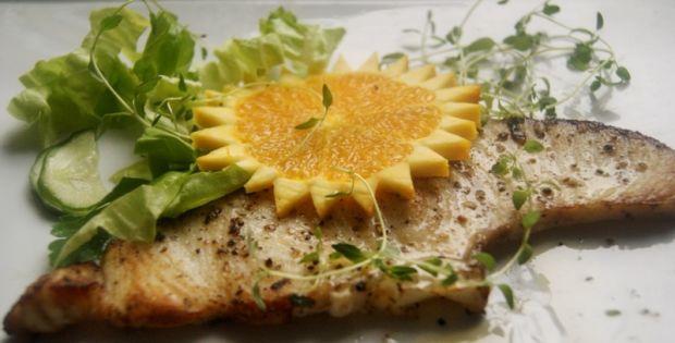 shark steak na pomarańczowo