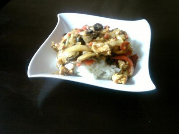 shoarma z kurczakiem i warzywami