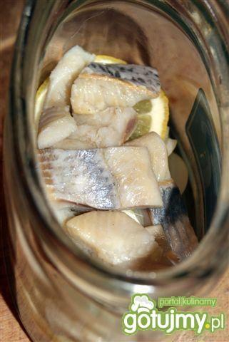 Śledź z cebula i cytryną w oleju