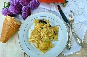 Smaki włoski i polskie w jednym daniu- Raviolli