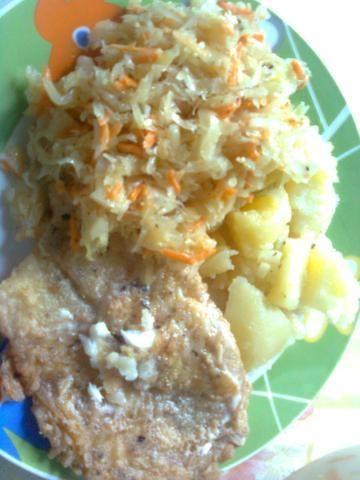 smażona ryba w panierce z mąki