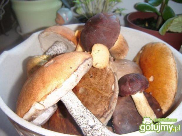 Smażone grzyby z cebulką