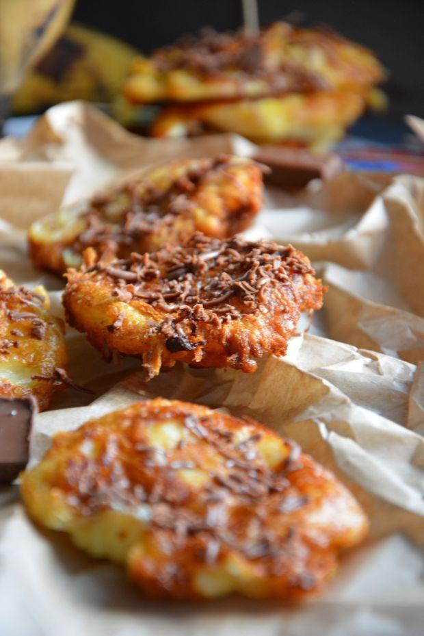 Smażone plantany w cieście serowym