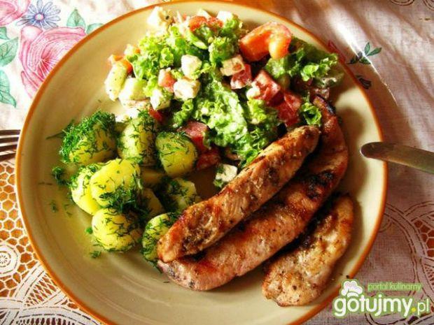 smażony kurczak z ziemniaczkami