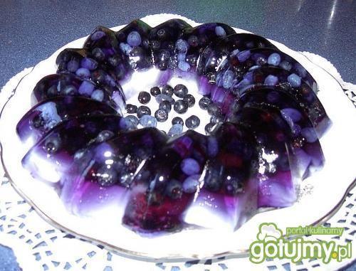 Smerfowo - jagodowy deser