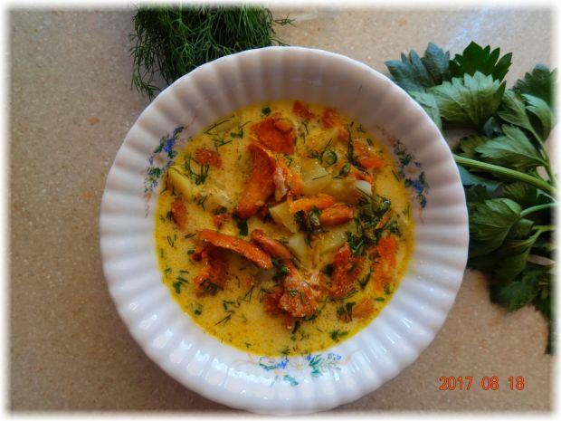 Śmietankowa zupa kurkowa