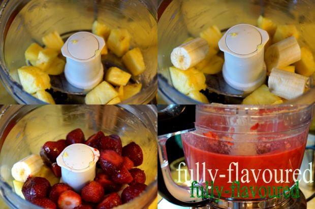 Smoothie truskawkowo-ananasowo-bananowe