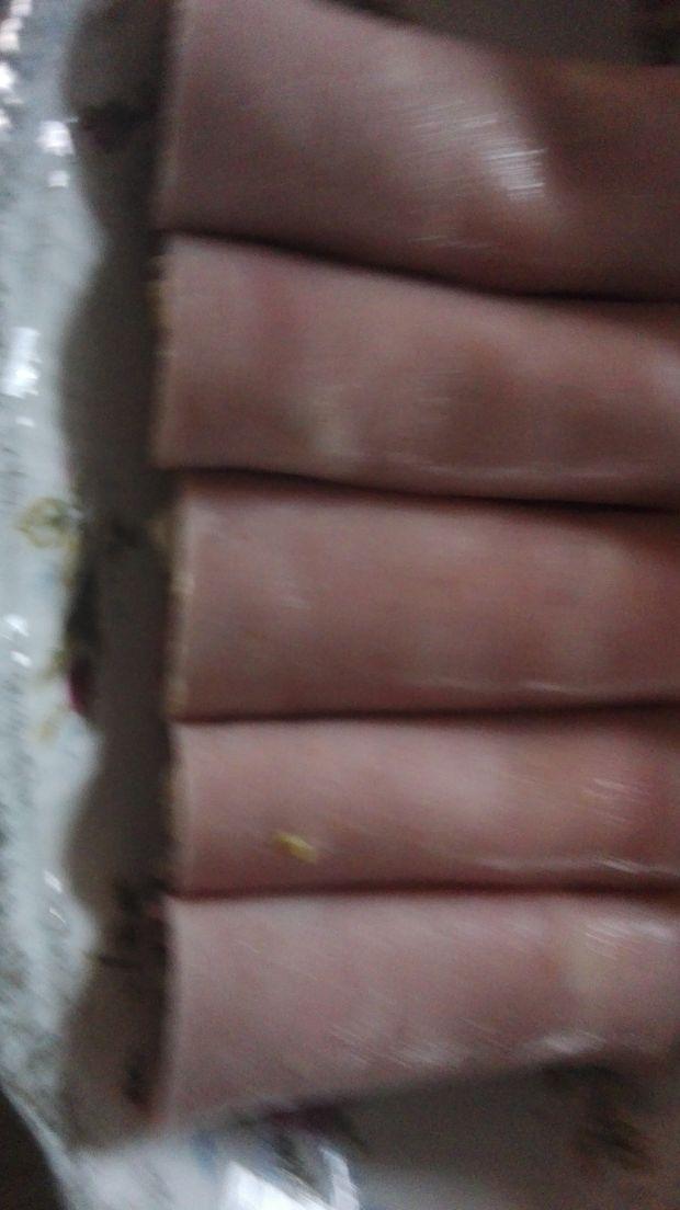 Soczewica z porem i szynką w galarecie