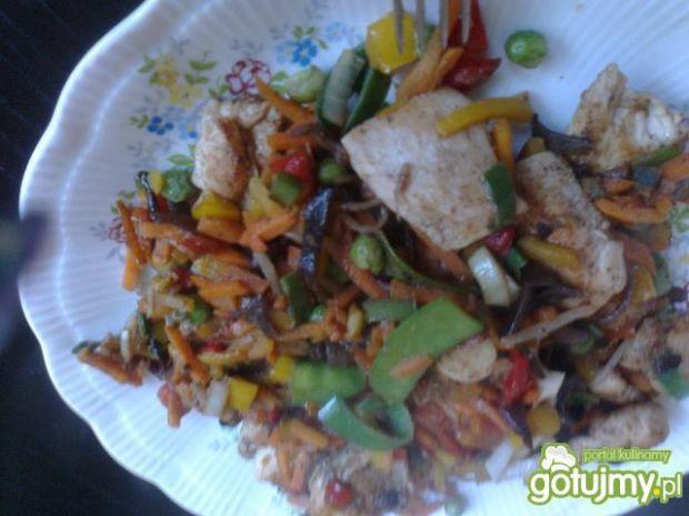 Sola z warzywami z nutą orientalną