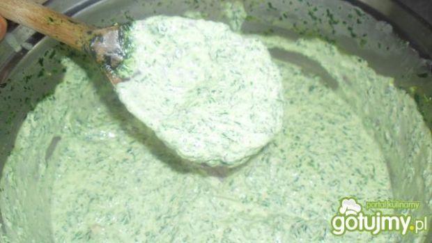 Sos śmietanowo-szpinakowy