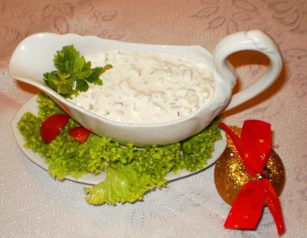 Sos tatarski z marynowanych pieczarek