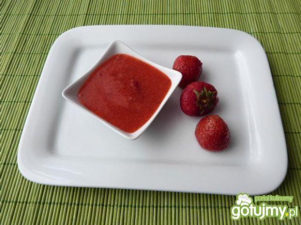 Sos truskawkowy z miodem i cherry