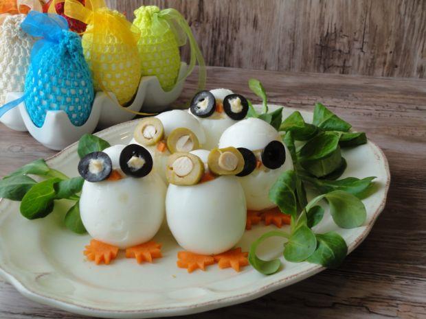 Sowy - jajka faszerowane pieczoną cebulą
