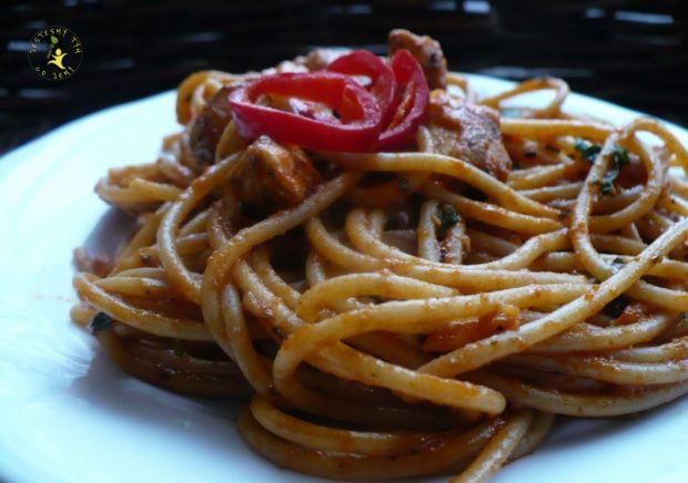Spaghetti a'la pollo pomodoro