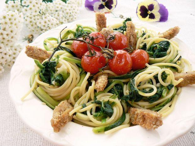 Spaghetti cukiniowo sojowe