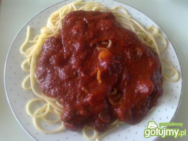 Spaghetti na ostro wg Megg