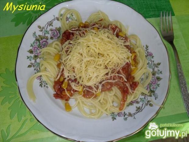 Spaghetti z autorskim sosem