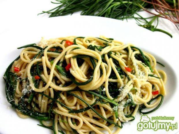 Spaghetti z broda mnicha /agretti/