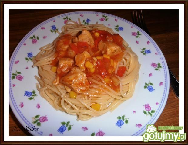 Spaghetti z kurczakiem na szybko