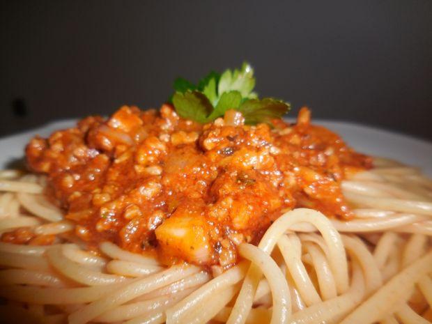 Spaghetti z makaronem razowym