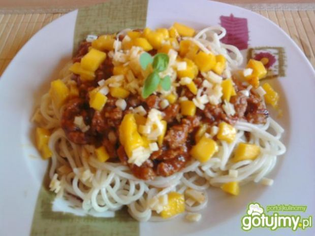 Spaghetti z mango