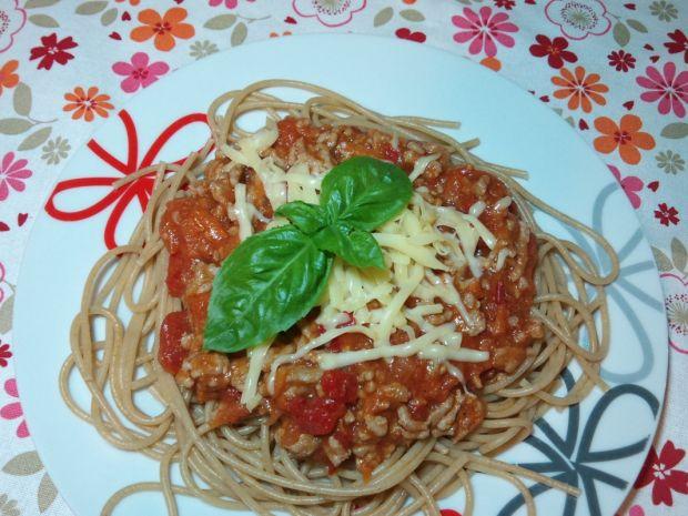 Spaghetti z mięsem i warzywami