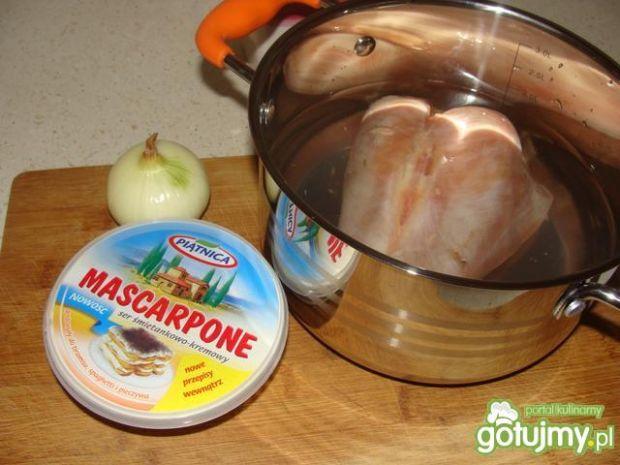 Spaghetti z serkiem mascarpone