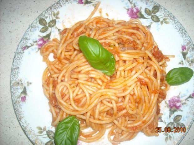 spaghetti z tunczykiem