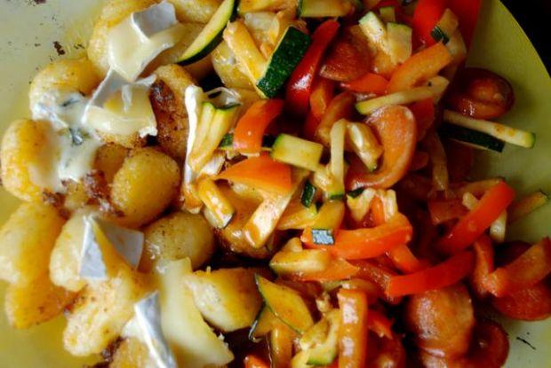 sposob na kluski śląskie z warzywami