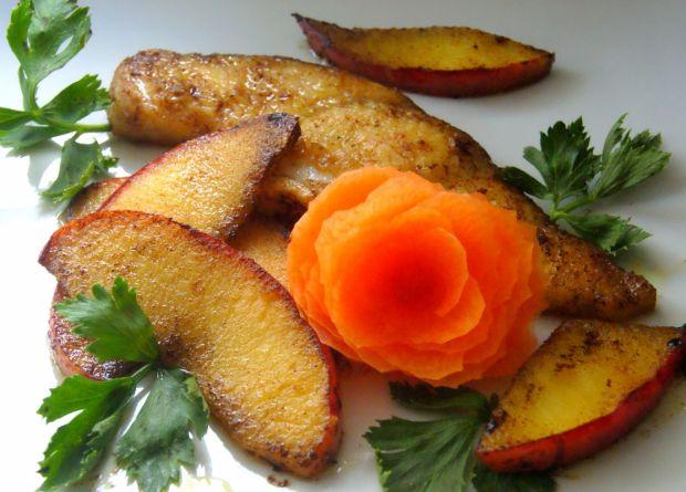 stek z rekina z jabłkami