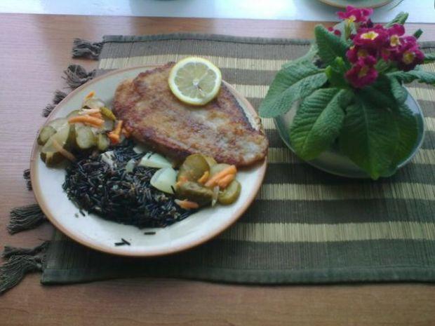 strzępiel w cytrynie na dziko(dziki ryż)
