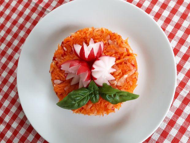 Surówka do obiadu z marchewki i rzodkiewki