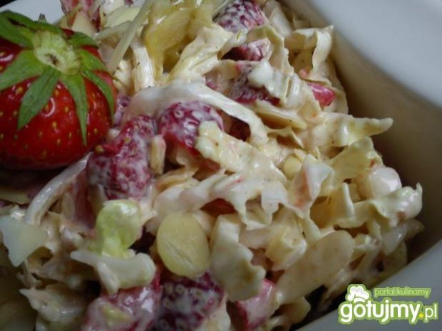 Surówka obiadowa - Truskawki i miód