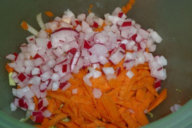 Surówka porowa z marchewką i rzodkiewką