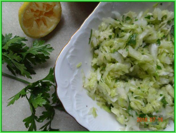 Surówka z białej kapusty i cebuli