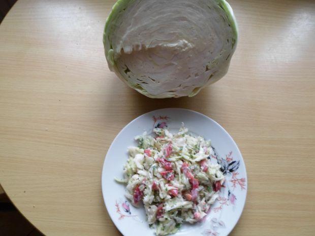 Surówka z białej kapusty z papryką