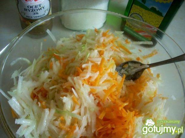Surówka z kalarepki,marchewki i koperku