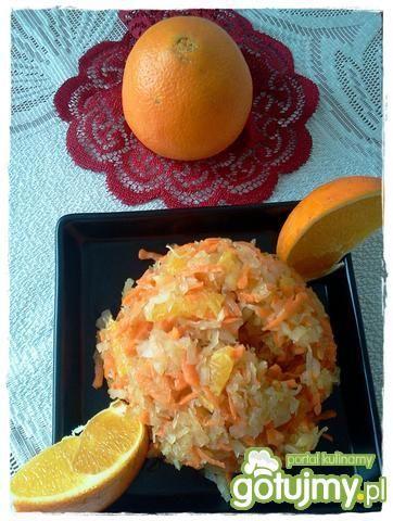 Surówka z kiszonej z pomarańczą