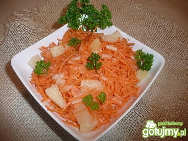 Surówka z marchewki i ananasa wg aginaa