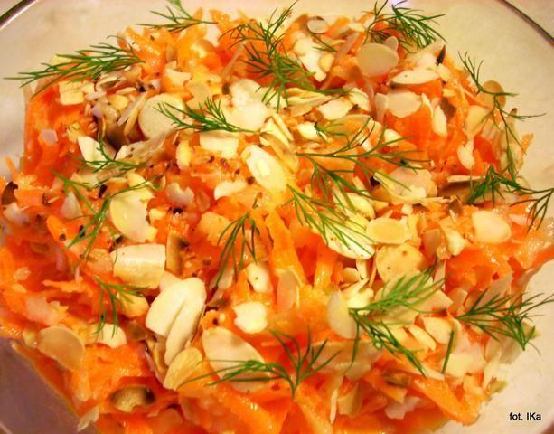 Surówka z marchewki i gruszek