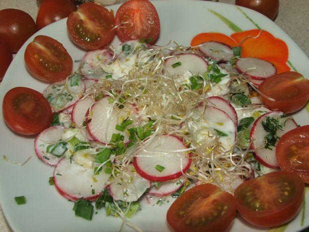 Surówka z rzodkiewką i kiełkami cebuli