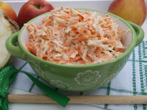 Surówka z selera, marchewki i jabłka