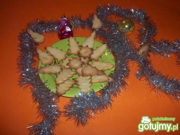 Świąteczne kruche ciasteczka z cukrem