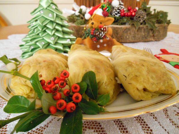Świąteczne maślane gołąbki z papryką i pieczarkami