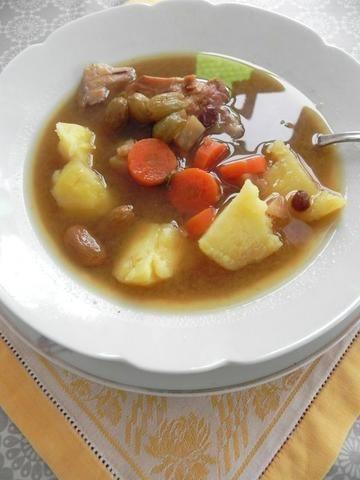 'Szara' zupa rybna na karmelu