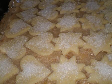 Szarlotka z cukrowymi ciasteczkami
